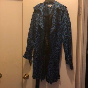 Joan Rivers Black and blue Animal print jacket